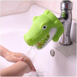 Tpingfe Cute Animal Faucet Extender, Kitchen Bathroom Silicone Sink Handle Extender Washing Easi ...