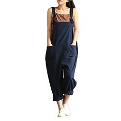 Bokeley-Pants,Women's Casual Jumpsuits Overalls Baggy Bib Pants Plus Size Wide Leg Rompers ...