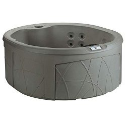LifeSmart Key Largo DLX 4 Person Oval 20 Jet Plug and Play Hot Tub Spa, Taupe