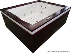 SDI Factory Direct 27 Jet Indoor 2 Person Whirlpool Hydrotherapy Massage Spa Drop in Bathtub Hot ...