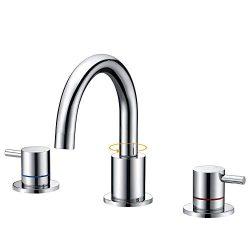 SURNORME Bathtub Faucet 2 Handle Widespread Bathroom Sink Faucet Bathtub Vanity Basin Mixer Tap  ...