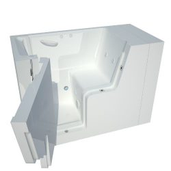 Meditub MT2953WCALWH Wheelchair Accessible 29 by 53 by 42-Inch Hydrotherapy Walk In Bathtub Spa  ...
