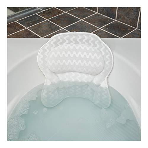 QuiltedAir Bath Pillow – Luxury Bathtub Pillow with 3D Air Mesh Technology, Machine Washab ...