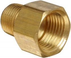 Anderson Metals Brass Pipe Fitting, Adapter, 1/2″ Male Pipe x 1/2″ Female Pipe