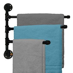 Outdoor Towel Rack For Pool or Bathroom Use – 3 Arm Swivel Towel Rack 20″ – Wa ...