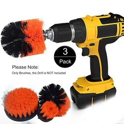 Funceter Drill Brush Attachment,Drill Powered Cleaning Brush,Bathroom Surfaces Tub, Shower, Tile ...