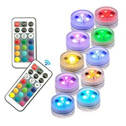 Waterproof Submersible Battery Led lights with Remote control for Patio,Swimming pool,Hot tub,sp ...