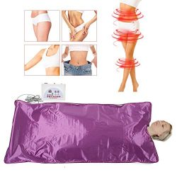 Heat Sauna Blanket, Electric Far-Infrared Sauna Sliming Blanket Khan Steam Foldable Steam Pot Ma ...