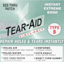 VINYL LINER Tear Hole Rip REPAIR PATCH KIT 6″x12″ B