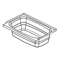Kinro Composites Lippert 209678 Kinro ABS RV Full Tub – 24″ x 40″, Right Hand, ...