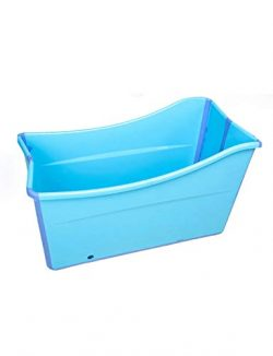 Gweat Kids Portable Folding Bathtub Swimming Pool Large Freestanding Corner Bathtub Bath Bucket  ...