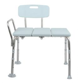 Medline Microban Medical Transfer Bench with Antimicrobial Protection for Bath Safety, Shower Us ...