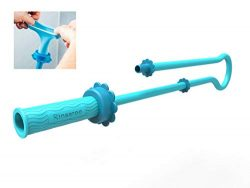 RINSEROO Super-Stretch, Slip-on Dog wash Hose Attachment. Pet Shower Sprayer for showerhead and  ...