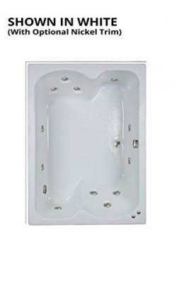 Watertech – 6043 White Whirlpool Bath (60 in. x 43 in.) – Includes 12.5 amp In-Line  ...