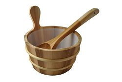 Northern Lights Group Cedar Sauna Bucket with Scoop Ladle & Liner
