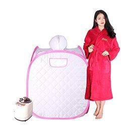 Smartmak Portable Steam Sauna, Health eco-Friendly 2L Steamer with Remote Control, one Person or ...