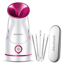 Amconsure Facial Steamer – Nano Ionic Facial Steamer Warm Mist Moisturizing Face Steamer H ...