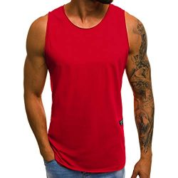 NIKAIRALEY T-Shirt Men's Muscle Gym Workout Stringer Tank Tops Bodybuilding Fitness T-Shir ...