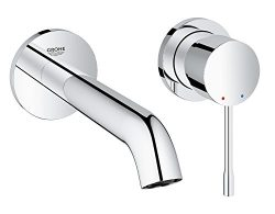 GROHE 19408001 Essence Wall-mounted 2-Hole Basin Tap, Final assembly set (Concealed Body Not inc ...