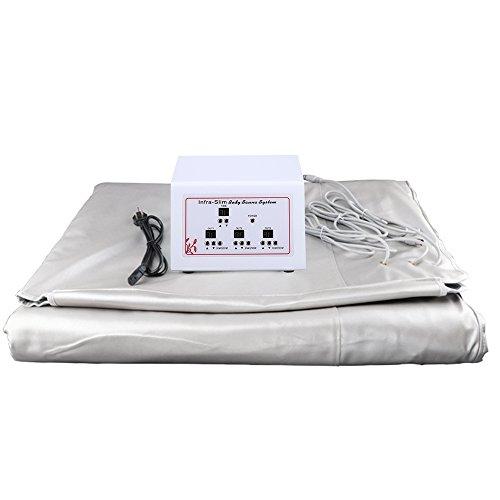 HUKOER Digital Far-Infrared (FIR) Heat Sauna Blanket with 3 Zone Controller