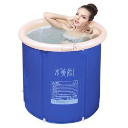 colflow Inflatable Hot Tub Foldable Portable Plastic Bathtub Spa For Adult With Air Pump Head Cu ...