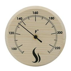 "Wildgoose Co Sauna Thermometer Fahrenheit (6"" Inches Diameter) Thermometer for Sauna, Sauna Acce ..."