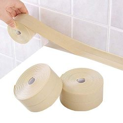 2 Pack Bathtub Wall Sealing Caulk Strip PE Self Adhesive Waterproof Sealing Tape Strip Caulk Sea ...