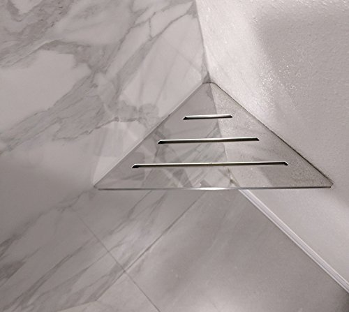 Royal Stainless Steel Triangle Shelf or Foot Prop by Serene Steam Wall Mount Shower shelf for Ba ...