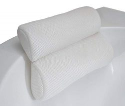 Wares in a Box, Bath Tub Pillow Rest – Bathtub Backrest, Soft Spa Headrest | Bath Pillow Cushion ...