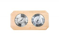 ALEKO WJ10 Thermo-Hygrometer for Sauna Handcrafted from Finnish Pine