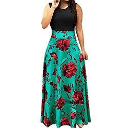 Pongfunsy Womens Summer Dress Women Striped Long Boho Dress Lady Beach Sundrss Maxi Dress 2019 B ...