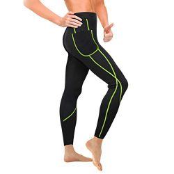 Wonderience Women Sauna Weight Loss Slimming Neoprene Pants with Side Pocket Hot Thermo Fat Burn ...