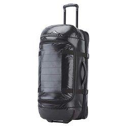 High Sierra Kennesaw 30″ Wheeled Drop-Bottom Duffel, Black, One Size