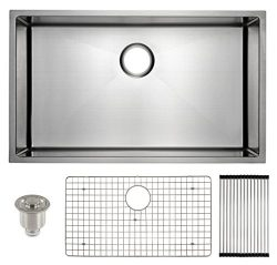 Frigidaire Undermount Stainless Steel Kitchen Sink, 10mm Radius Corners, 16 Gauge, Deep Basin, 3 ...