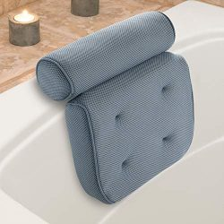 Luxurious Thick Premium Support Head, Neck & Shoulder Spa and Bath Pillow with Suction Cups  ...