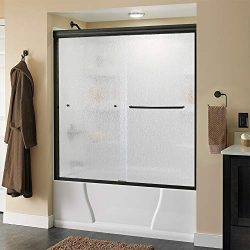 Delta Shower Doors SD3927420 Classic Semi-Frameless Traditional Sliding Bathtub, 60″ x 58- ...