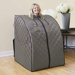 Radiant Saunas Rejuvinator Portable Personal Sauna with FAR Infrared Carbon Panels, Heated Floor ...