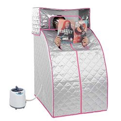 Personal Sauna, Portable Steam Sauna Tent Home Spa Full Body Relaxed and Face Spa Machine With 2 ...