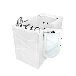 Ella Chi 32″x 52″ Air and Hydro Massage Walk-In Bathtub with Left Outward Swing Door ...
