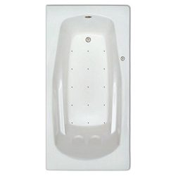 Signature Bath LPI229-A-RD Drop-In Air Injection Bathtub with Stainless Jets – Right Drain ...