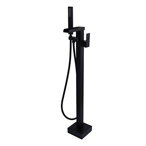 JiaYouJia Freestanding Bathtub Faucet Floor Mounted Tub Filler Waterfall Floor Standing Single H ...