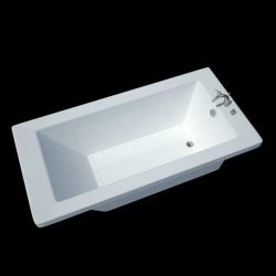 Atlantis Whirlpools 3272vnar Venetian Rectangular Air Jetted Bathtub, 32 X 72, Right Drain, White