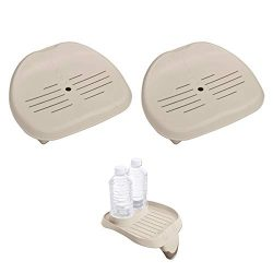 Intex Removable Slip-Resistant Seat for Inflatable Pure Spa Hot Tub | 28502E (2 Pack) PureSpa At ...