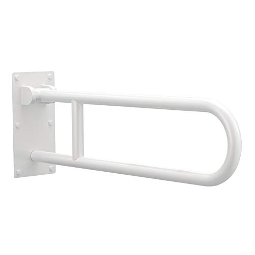 Moen R8960FDW 30-Inch Flip-Up Bathroom Grab Bar, Glacier