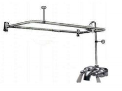 Add-a-shower with 60″ D Rod & Faucet with Ceramic Cartridges, Porcelain Lever Handles  ...