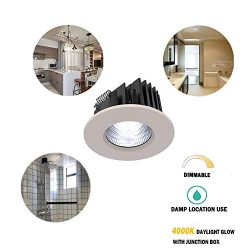 Obsess Dimmable Recessed Ceiling Down Light for Wet Location,with Junction Box,Specially Fixture ...