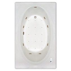 Signature Bath LPI225-C-RD Drop-In Air & Whirlpool Bathtub with Waterfall & Led Lighting ...