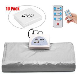 Lofan Heat Sauna Blanket Portable Personal Sauna Far-Infrared (FIR) for Relaxation at Home, Gray ...