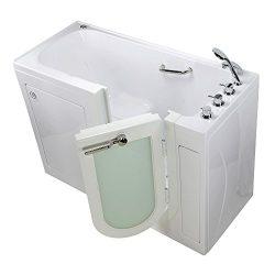 Ella's Bubbles OA2660-H-L Lounger Walk-In Bathtub 27″ x 60″ x 43″ White