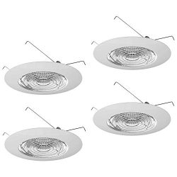Four-Bros Lighting FLP 6″ Inch Fresnel Glass Lens with White Plastic Trim-60 Watt Max. -fo ...